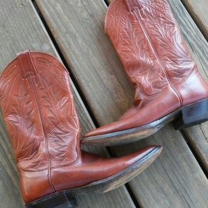 Nocona Brown Leather Western Boot(6)